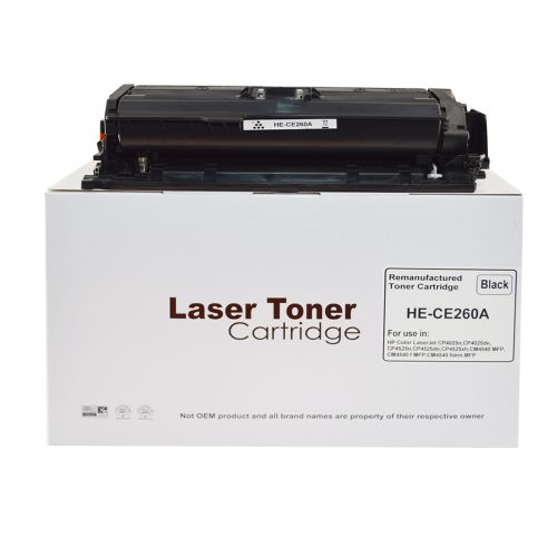 Remanufactured HP CE260A Black 648A Toner
