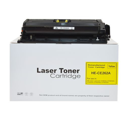 Remanufactured HP CE262A Yellow 648A Toner