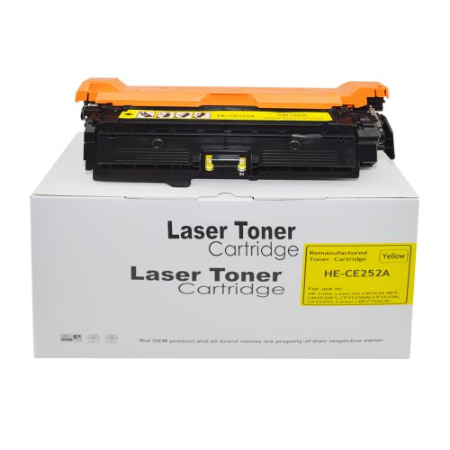 Remanufactured HP CE252A Yellow 504A also for Canon 723Y Toner