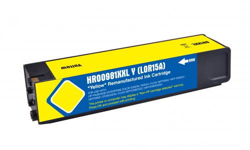Remanufactured HP 981Y Yellow Extra Hi Cap L0R15A Inkjet