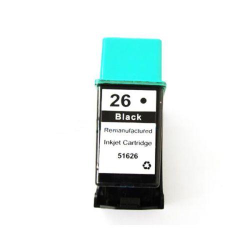 Remanufactured HP 51626A Black 26 Inkjet