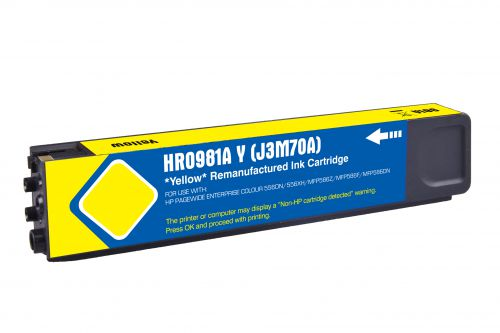 Remanufactured HP 981A Yellow J3M70A Inkjet
