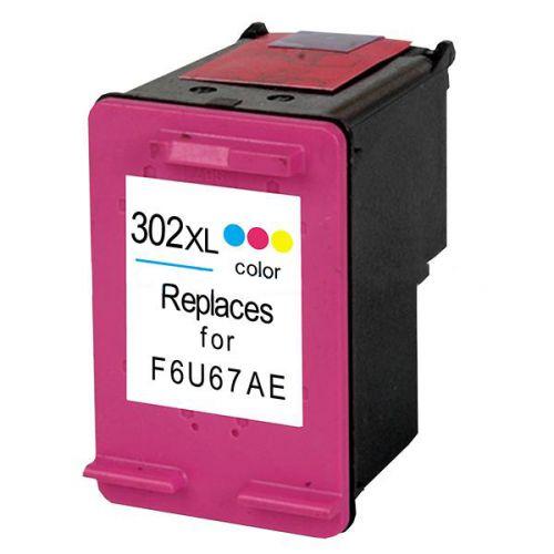 Remanufactured HP 302XL Colour Hi Cap F6U67AE Inkjet