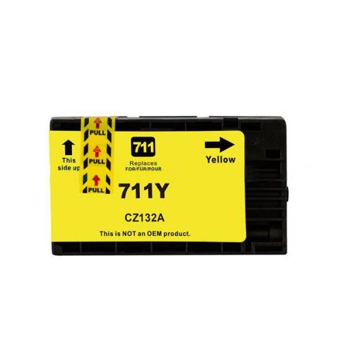 Compatible HP 711XLY Yellow Hi Cap CZ132A Inkjet