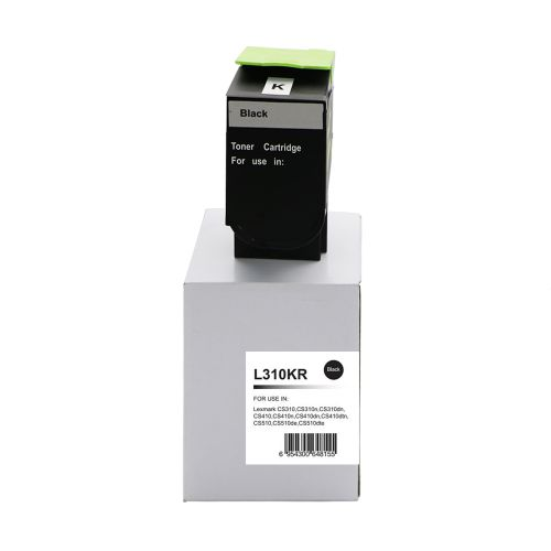Remanufactured Lexmark CS310BK Black 70C2HK0 702HK also for 700H1 Toner