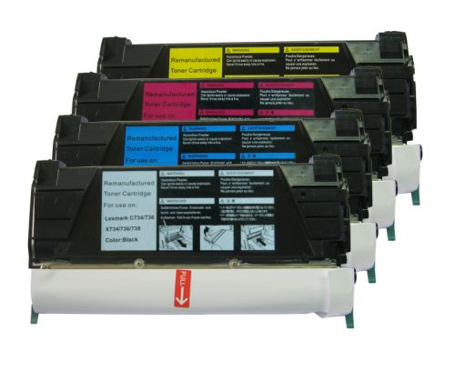 Remanufactured Lexmark C734Y Yellow C734A2YG Toner