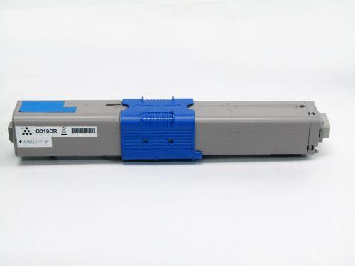 Remanufactured OKI C310C Cyan 44469706 Toner
