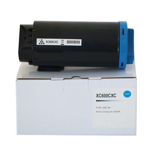 Compatible Xerox C600HCC Cyan Hi Cap 106R03904 Toner