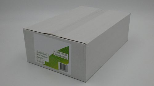C4 Envelopes Non Window Self Seal 90gsm White (Pack of 250)