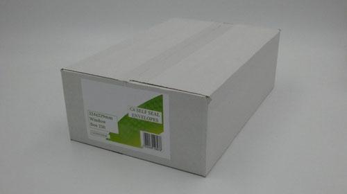 C4 Envelopes Window Self Seal 90gsm White (Pack of 250)