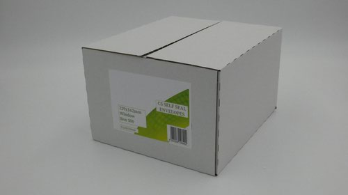C5 Envelopes Window Self Seal 90gsm White (Pack of 500)