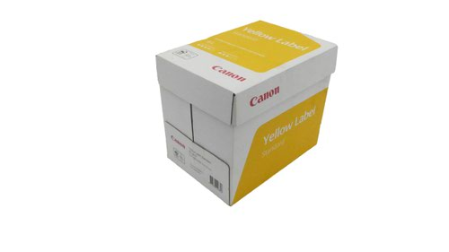 Canon Yellow Label Standard PEFC A4 White Paper Pack of 5 Reams of 500 80GSM
