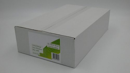 DL Envelopes Non Window Self Seal 80gsm White (Pack of 1000)