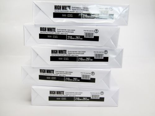 Copier/Laser Paper A4 White Pk 5 Reams of 500 Unmarked