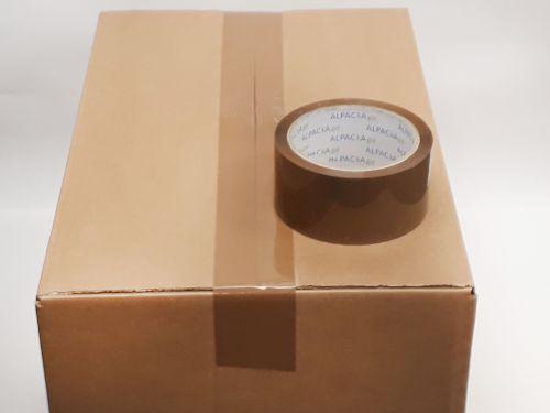 Buff BOPP Tape 48mm 150m 45mu Box 36