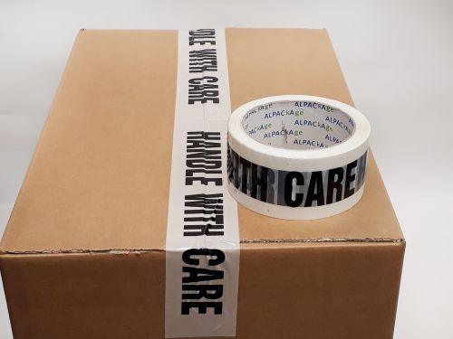 Printed BOPP Tape HANDLE WITH CARE Black/White 48mm 66m 38mu Box 72