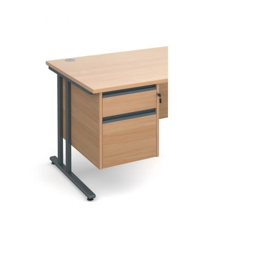 Maestro 25 GL 2 drawer fixed pedestal - beech