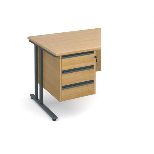 Maestro 25 GL 3 drawer fixed pedestal - oak