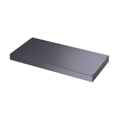 Plain steel shelf internal fitment for systems storage - graphite grey