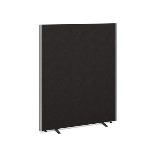 Floor standing fabric screen 1500mm high x 1200mm wide - charcoal