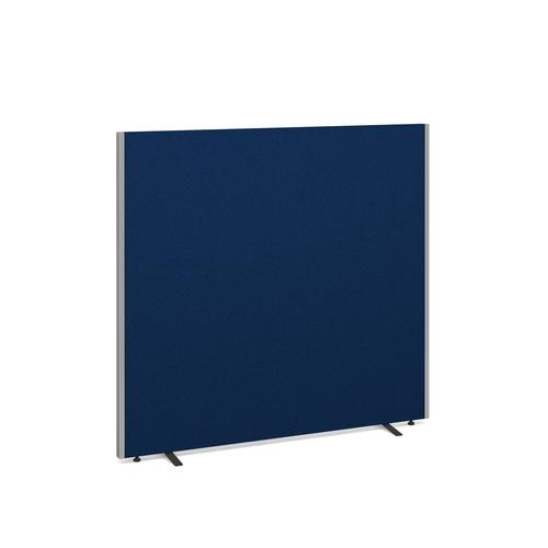 Floor standing fabric screen 1500mm high x 1600mm wide - blue