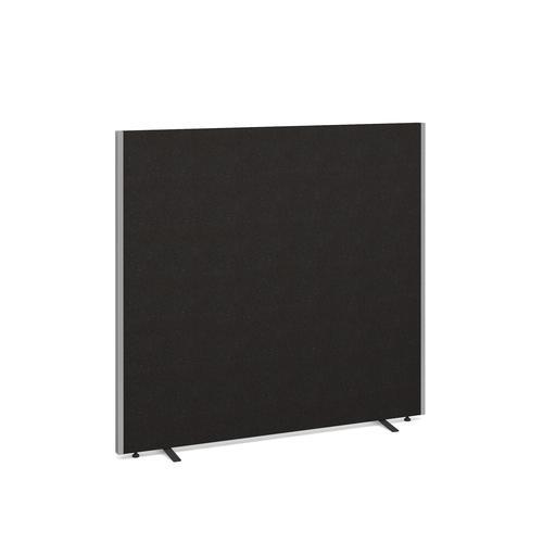 Floor standing fabric screen 1500mm high x 1600mm wide - charcoal