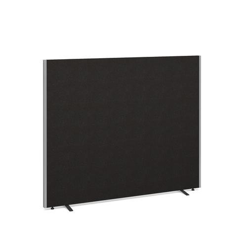 Floor standing fabric screen 1500mm high x 1800mm wide - charcoal