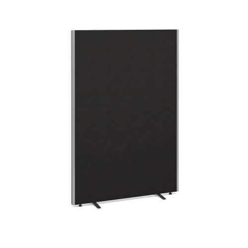 Floor standing fabric screen 1800mm high x 1200mm wide - charcoal