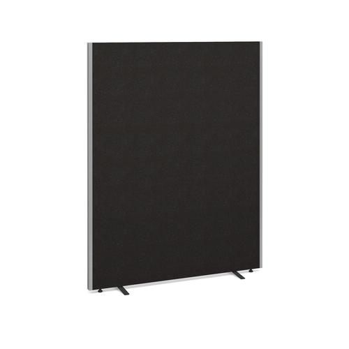Floor standing fabric screen 1800mm high x 1400mm wide - charcoal