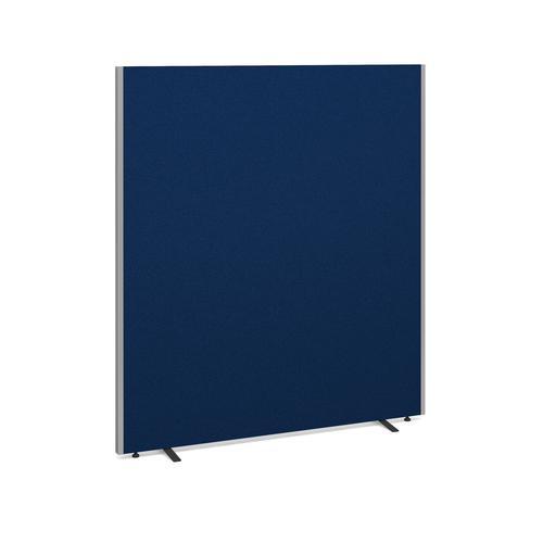 Floor standing fabric screen 1800mm high x 1600mm wide - blue