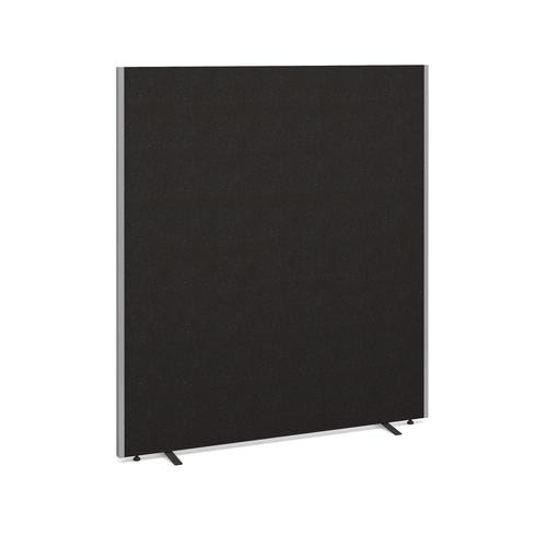 Floor standing fabric screen 1800mm high x 1600mm wide - charcoal