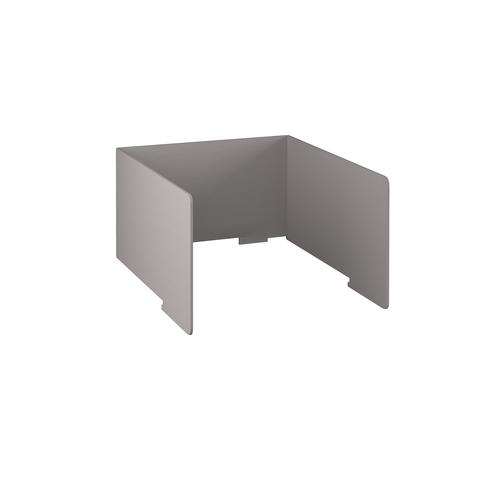 Free-standing high acoustic 3-sided desktop screen 1000mm wide - grey