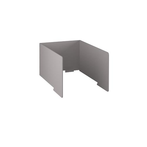 Free-standing high acoustic 3-sided desktop screen 800mm wide - grey