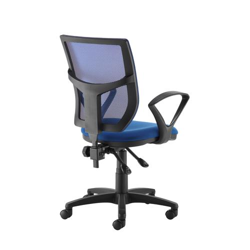 Altino coloured mesh back operators chair with fixed arms - blue mesh and fabric seat Office Chairs AFC11-000-BLU/BLU