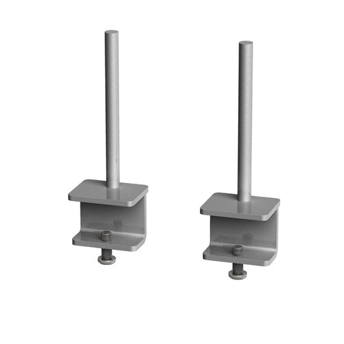 Fabric screen brackets for single desks or runs of Adapt and Fuze single desks (pair) - silver