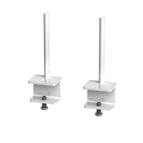 Fabric screen brackets for single desks or runs of Adapt and Fuze single desks (pair) - white