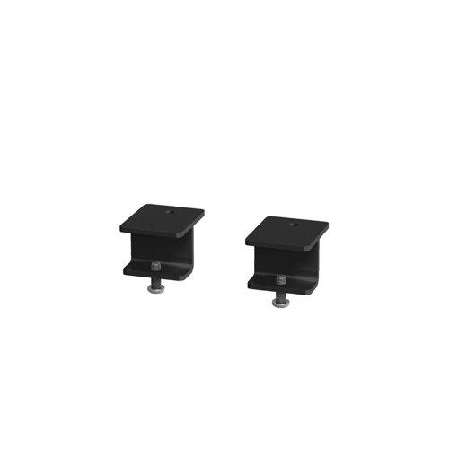 Glazed screen brackets for single Adapt and Fuze desks or runs of single desks (pair) - black