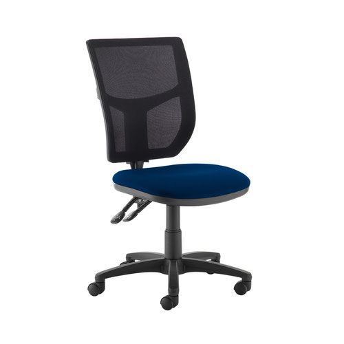 Altino 2 lever high mesh back operators chair with no arms - Curacao Blue