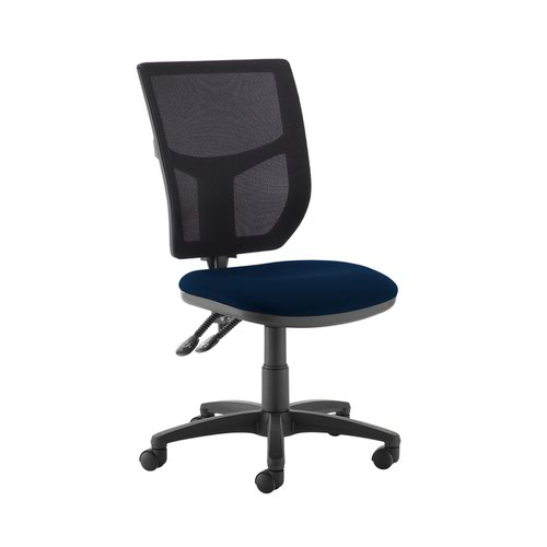 Altino 2 lever high mesh back operators chair with no arms - Costa Blue