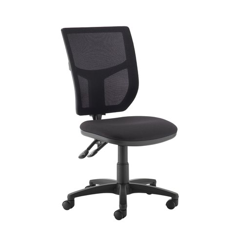 Altino 2 lever high mesh back operators chair with no arms - Blizzard Grey