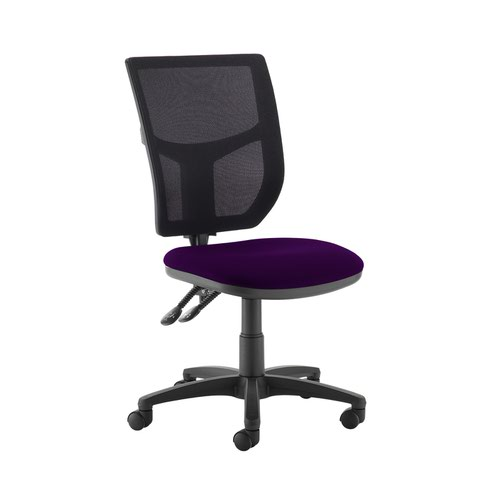 Altino 2 lever high mesh back operators chair with no arms - Tarot Purple