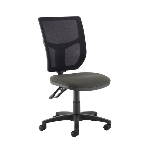 Altino 2 lever high mesh back operators chair with no arms - Slip Grey