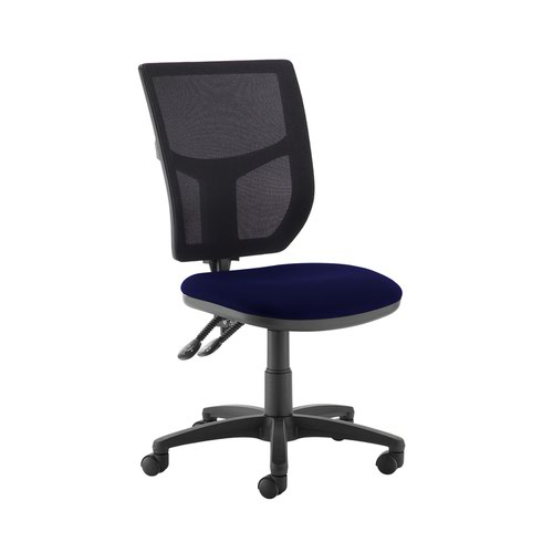 Altino 2 lever high mesh back operators chair with no arms - Ocean Blue