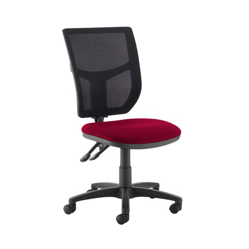 Altino 2 lever high mesh back operators chair with no arms - Diablo Pink