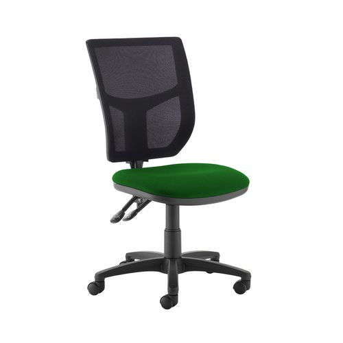 Altino 2 lever high mesh back operators chair with no arms - Lombok Green
