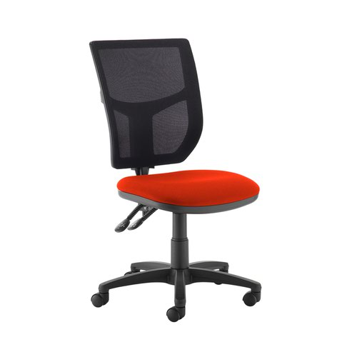 Altino 2 lever high mesh back operators chair with no arms - Tortuga Orange