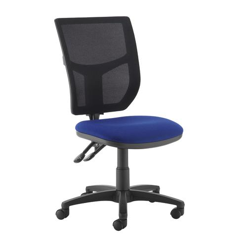 Altino 2 lever high mesh back operators chair with no arms - blue