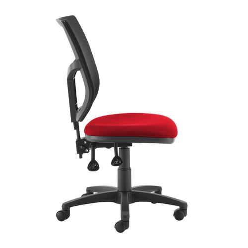 Altino 2 lever high mesh back operators chair with no arms - red Office Chairs AH10-000-RED