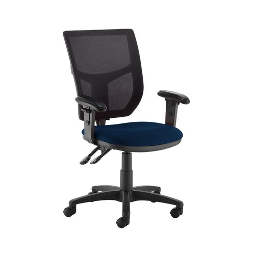 Altino 2 lever high mesh back operators chair with adjustable arms - Costa Blue Office Chairs AH12-000-YS026