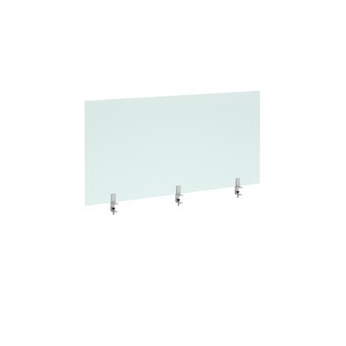 Straight high desktop acrylic screen with brackets 1400mm x 700mm